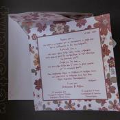 Προσκλητήριο γάμου και βάπτισης μαζί, typostar κωδ. 2050
